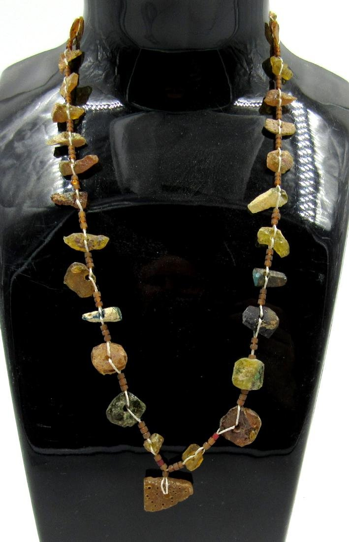 Ancient Roman Glass Beaded Necklace