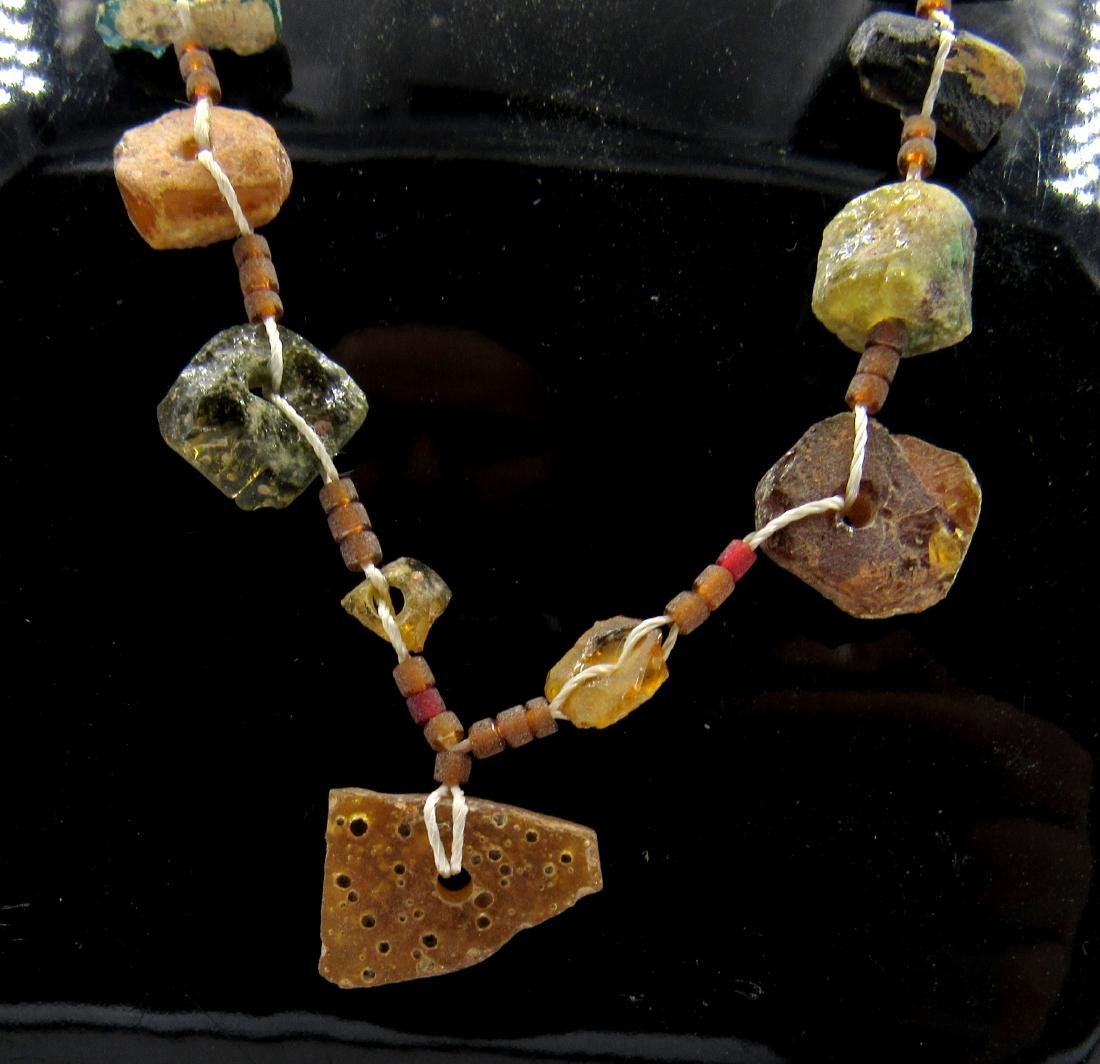 Ancient Roman Glass Beaded Necklace - 2