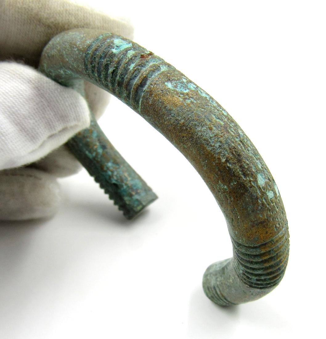 Ancient Bronze Age Decorated Bracelet