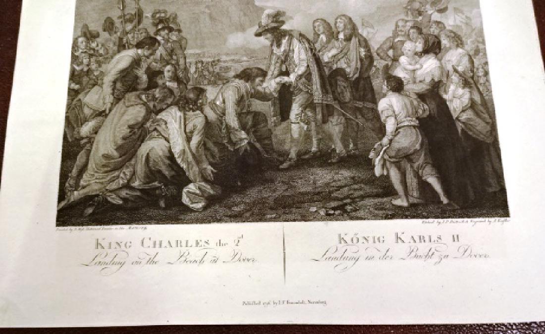 1796 Engraving King Charles Landing at Dover Benjamin - 2