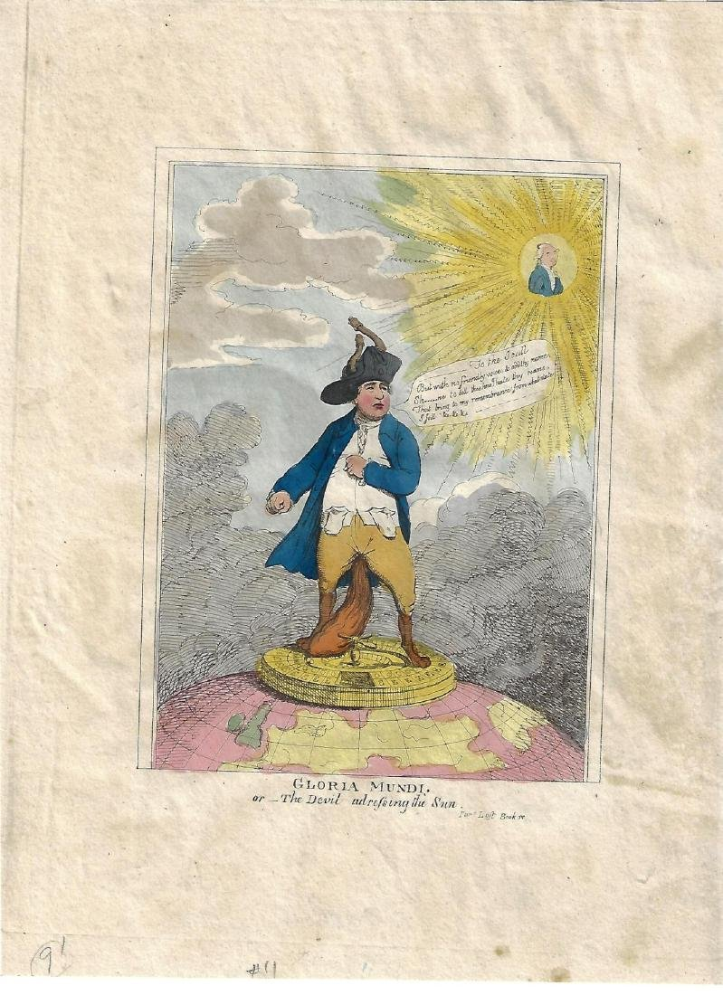 1820 Handcolored James Gillray Gloria Mundi