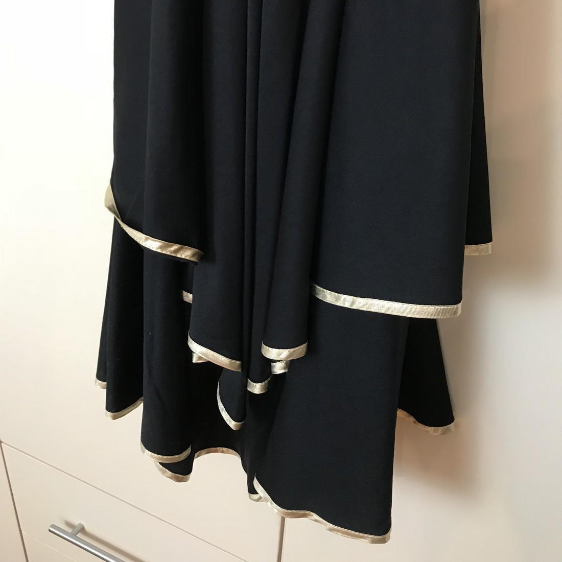 Black / Gold Vintage Designer Dress Size EUR 38 US 8 - 2