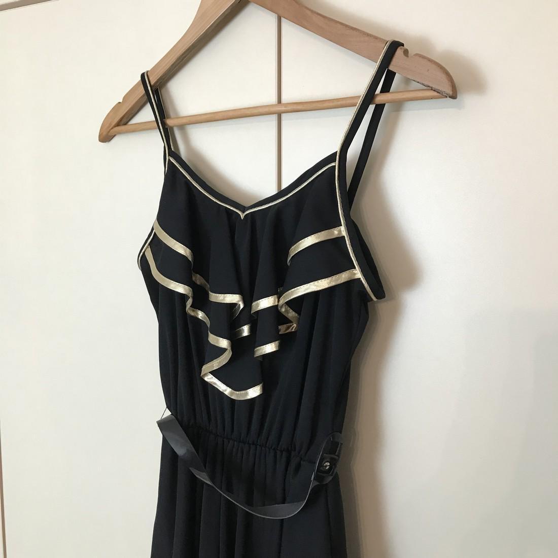 Black / Gold Vintage Designer Dress Size EUR 38 US 8 - 3