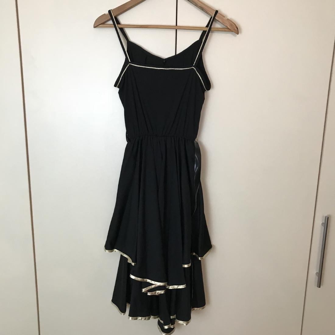 Black / Gold Vintage Designer Dress Size EUR 38 US 8 - 5