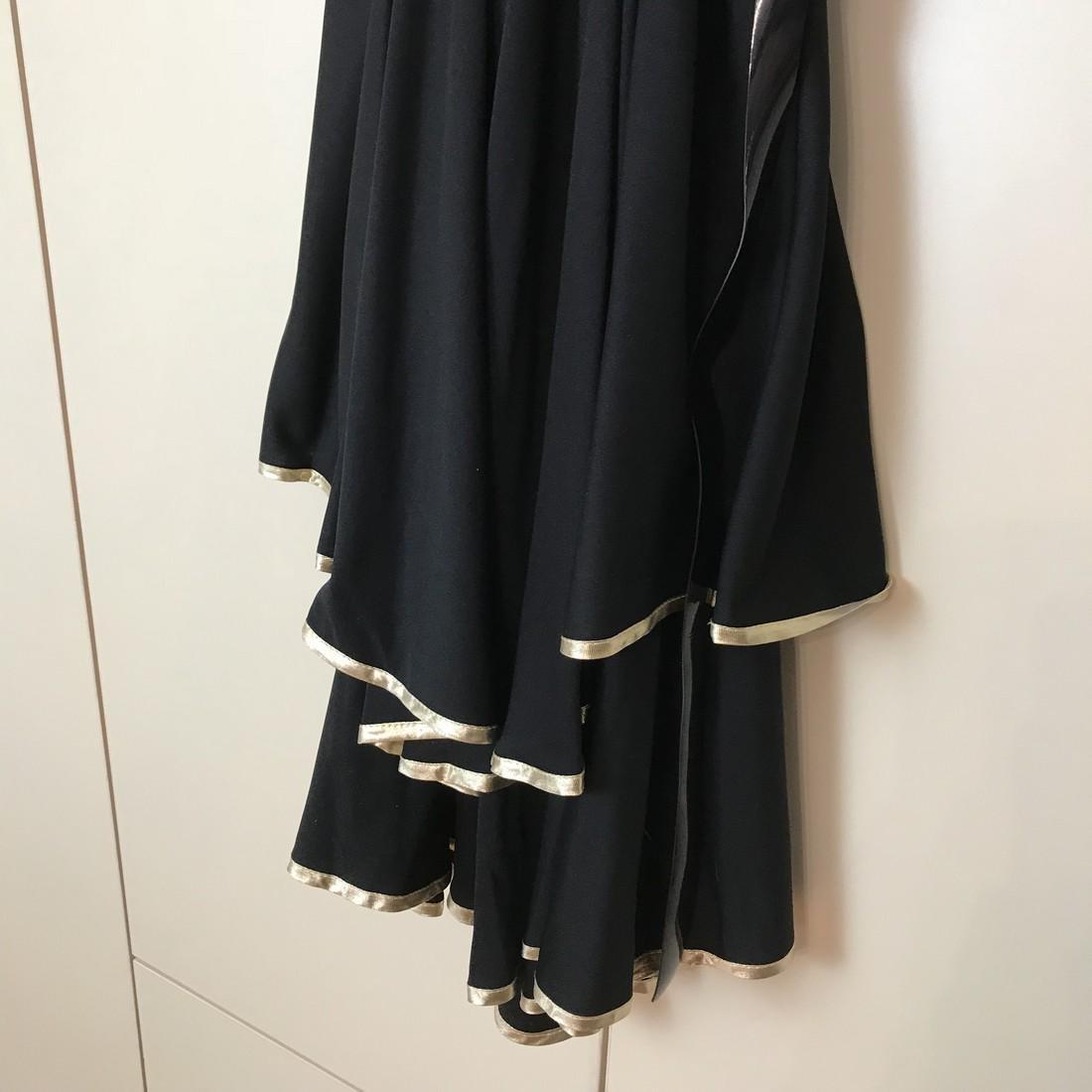 Black / Gold Vintage Designer Dress Size EUR 38 US 8 - 6