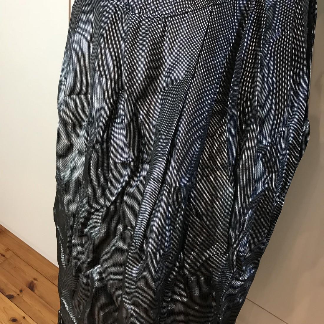 Grey Shiny Vintage Designer Dress Size EUR 42 US 12 - 3