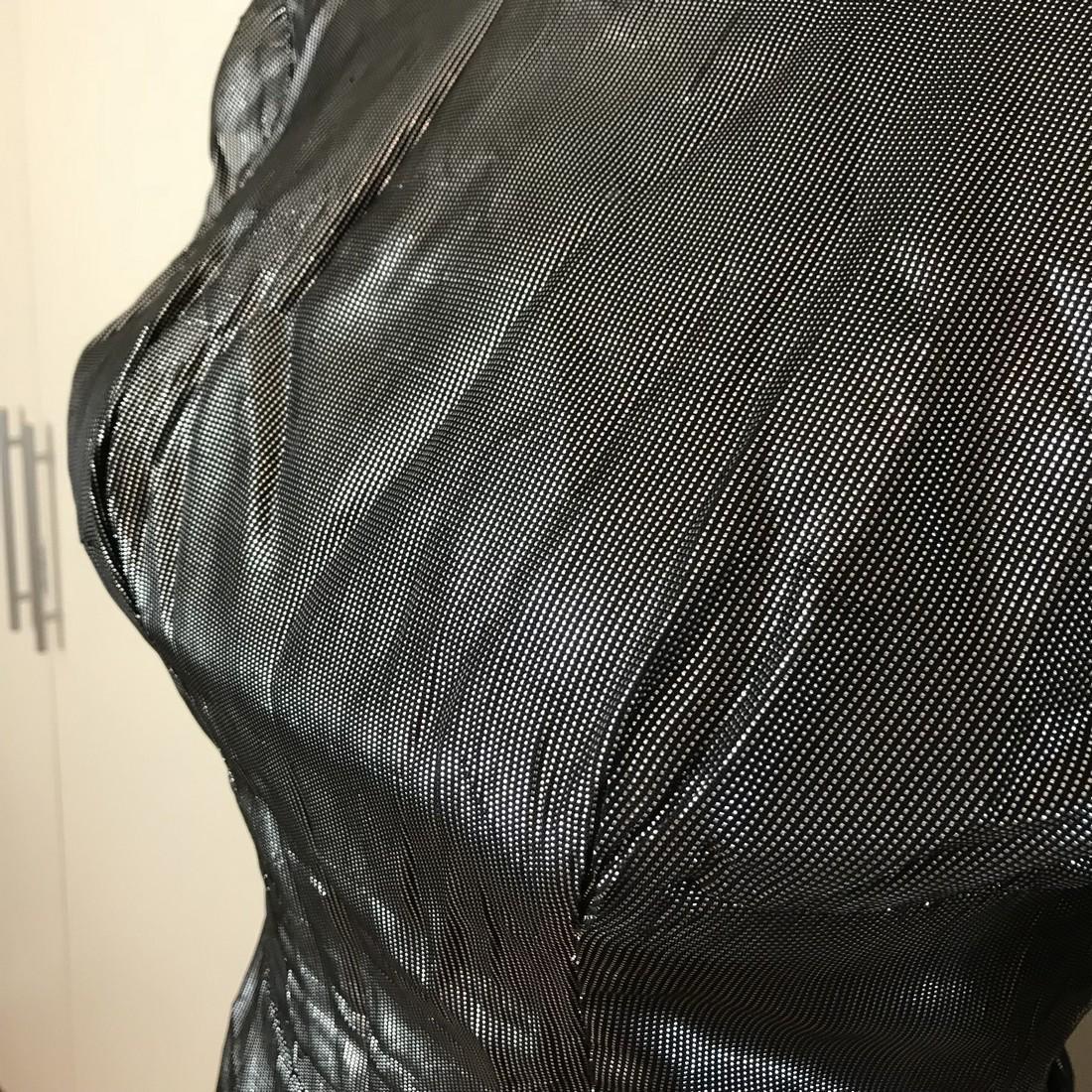 Grey Shiny Vintage Designer Dress Size EUR 42 US 12 - 4