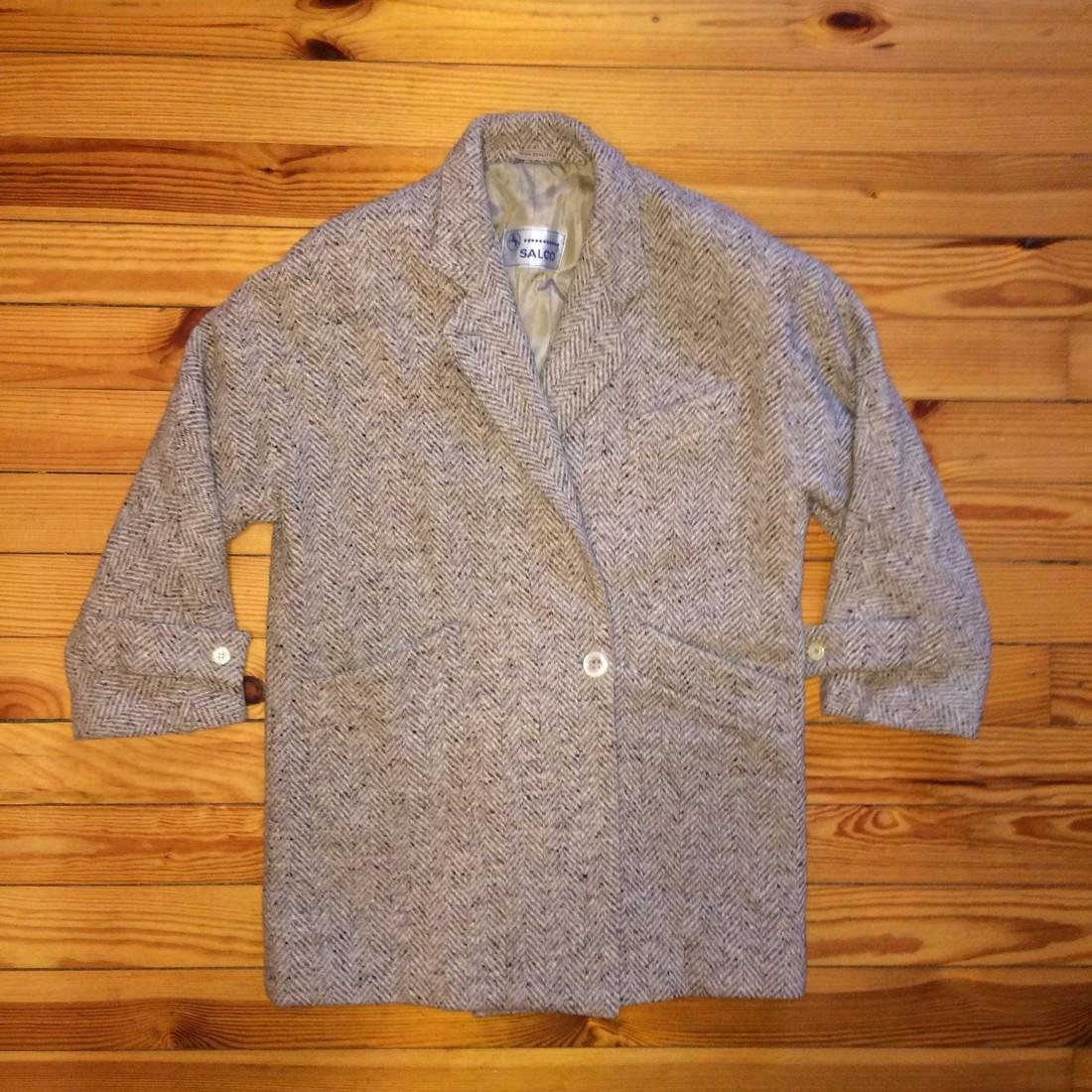 Women's Salco Pure New Wool Jacket Coat Size XL - 5