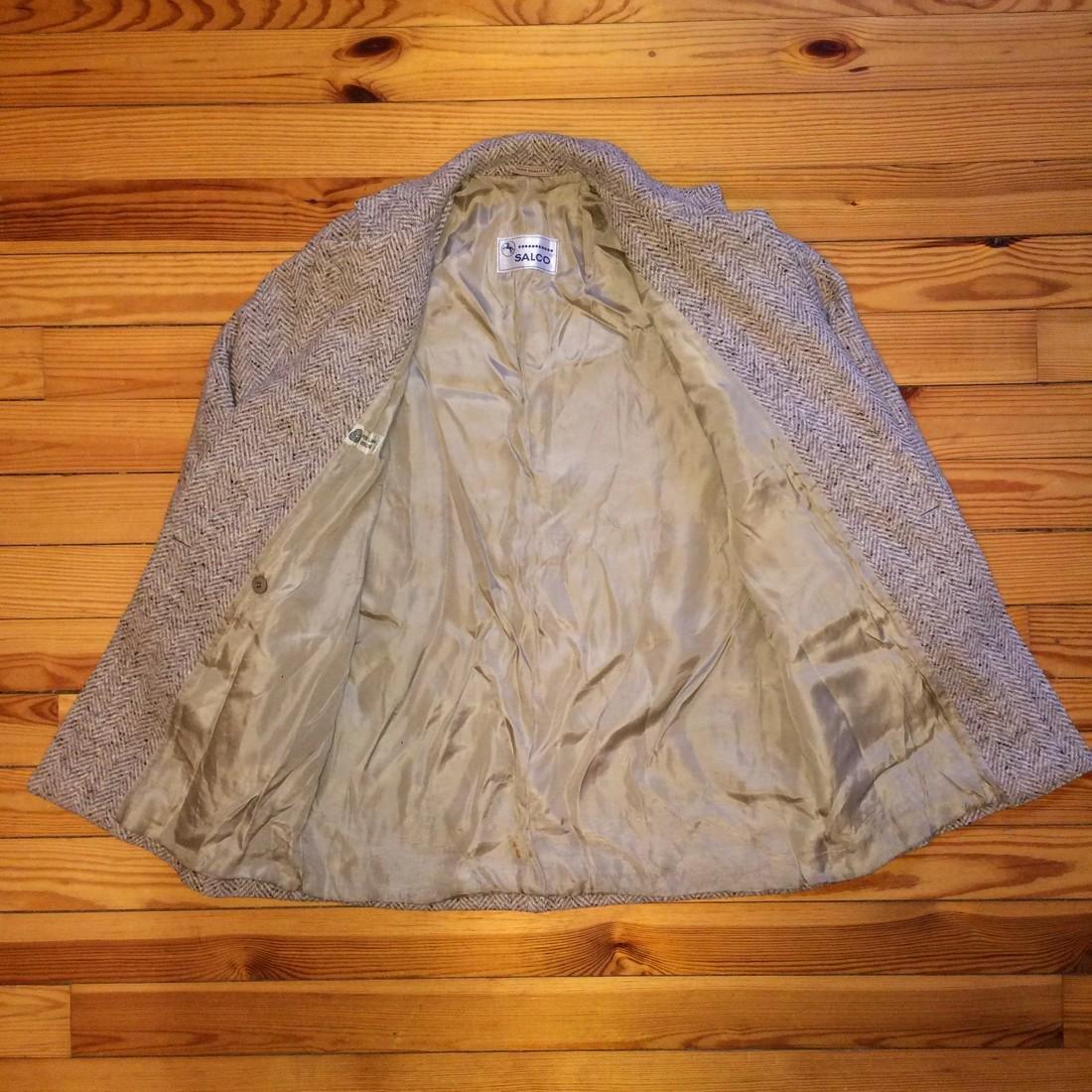 Women's Salco Pure New Wool Jacket Coat Size XL - 6