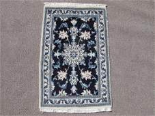 Stunning Authentic Wool/Silk Persian Nain 2.11x1.11