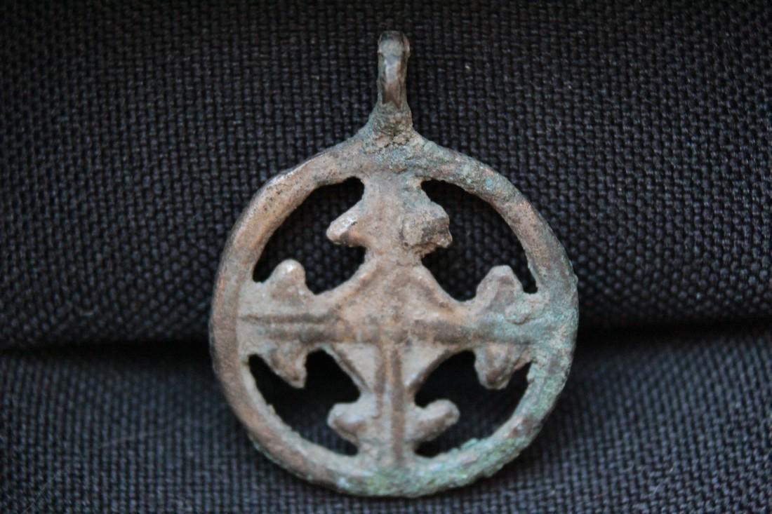 Medieval Bronze Cross Pendant