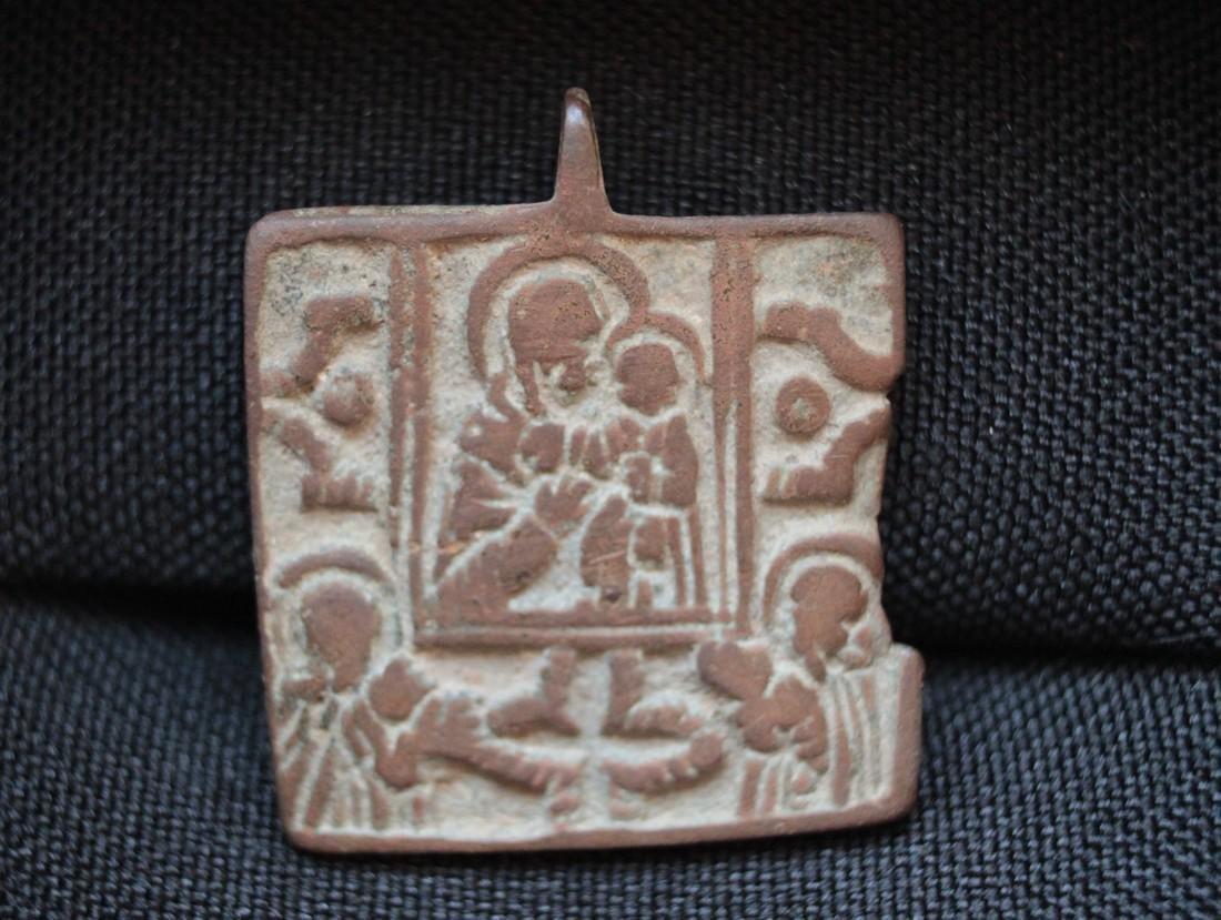 Post Medieval Orthodox Bronze Pendant