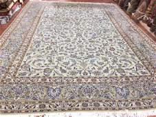 Vintage Persian Kashan all over Kashan Rug 9.9x13.4