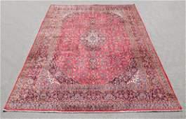 Hand Woven Semi Antique Persian Kashan Rug 13.3x9.7