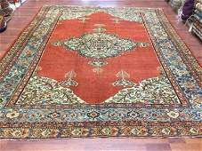Antique Persian Farahan Malayer Rug 8.3x10.8