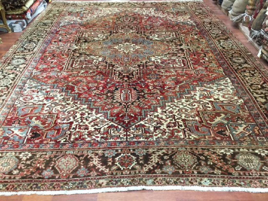 Antique Persian Heriz Rug 9.10x13