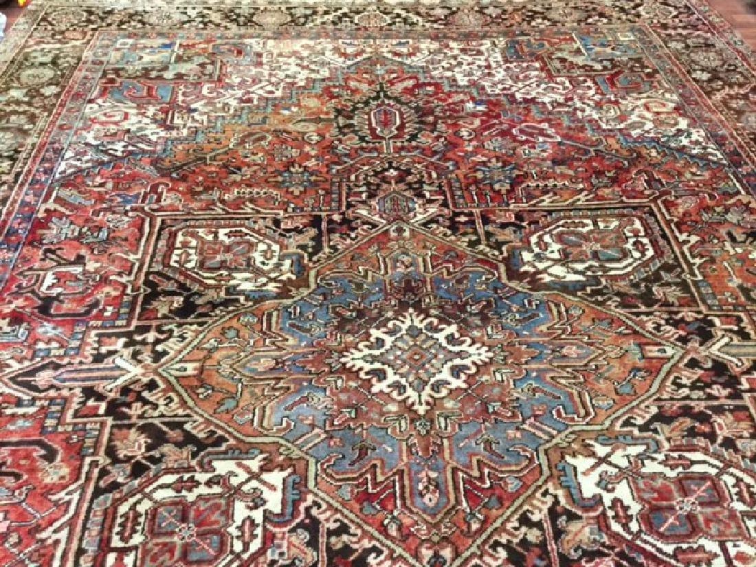 Antique Persian Heriz Rug 9.10x13 - 3