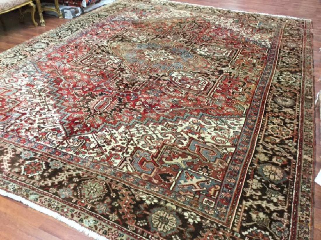 Antique Persian Heriz Rug 9.10x13 - 4