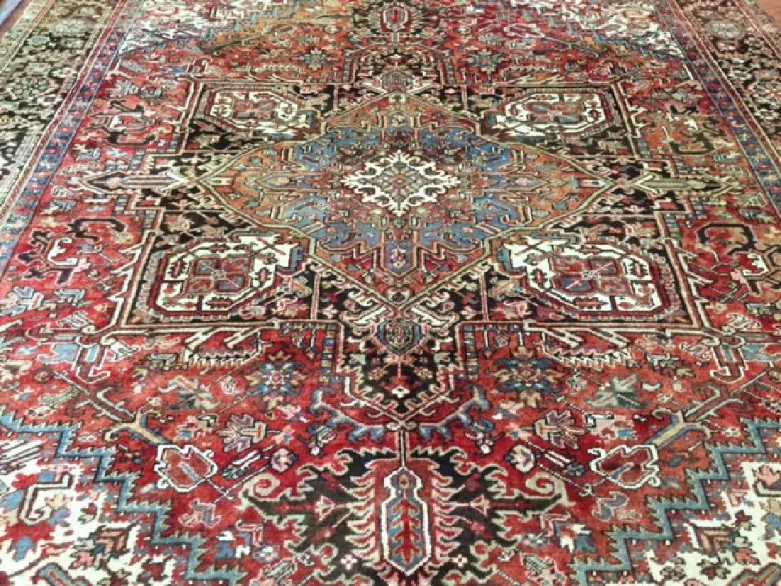 Antique Persian Heriz Rug 9.10x13 - 5