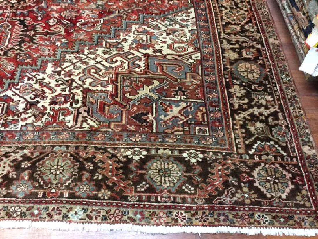 Antique Persian Heriz Rug 9.10x13 - 6