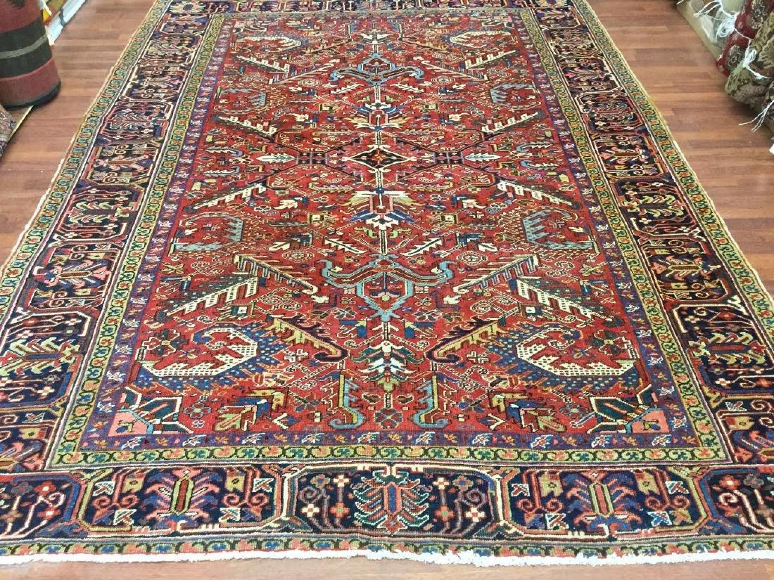 Antique Persian all over Heriz Rug 7.10x10.8