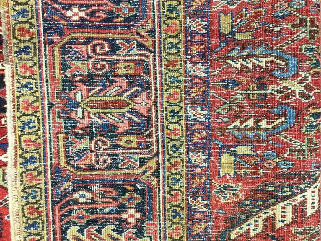 Antique Persian all over Heriz Rug 7.10x10.8 - 2