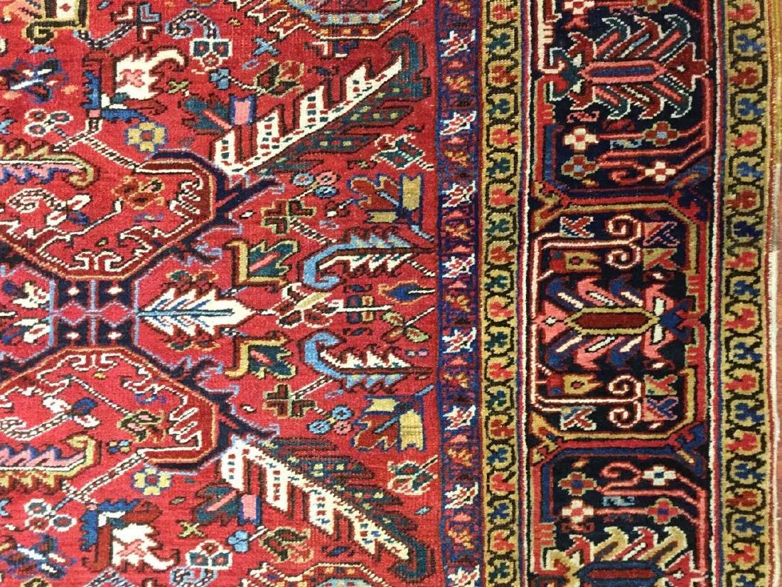 Antique Persian all over Heriz Rug 7.10x10.8 - 3