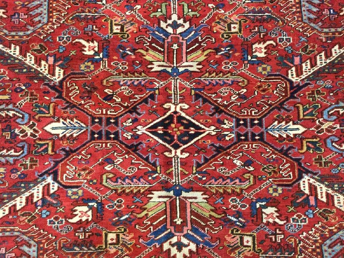 Antique Persian all over Heriz Rug 7.10x10.8 - 4