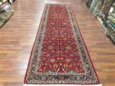 Vintage Persian Kashan Runner Rug 3.6x12.9