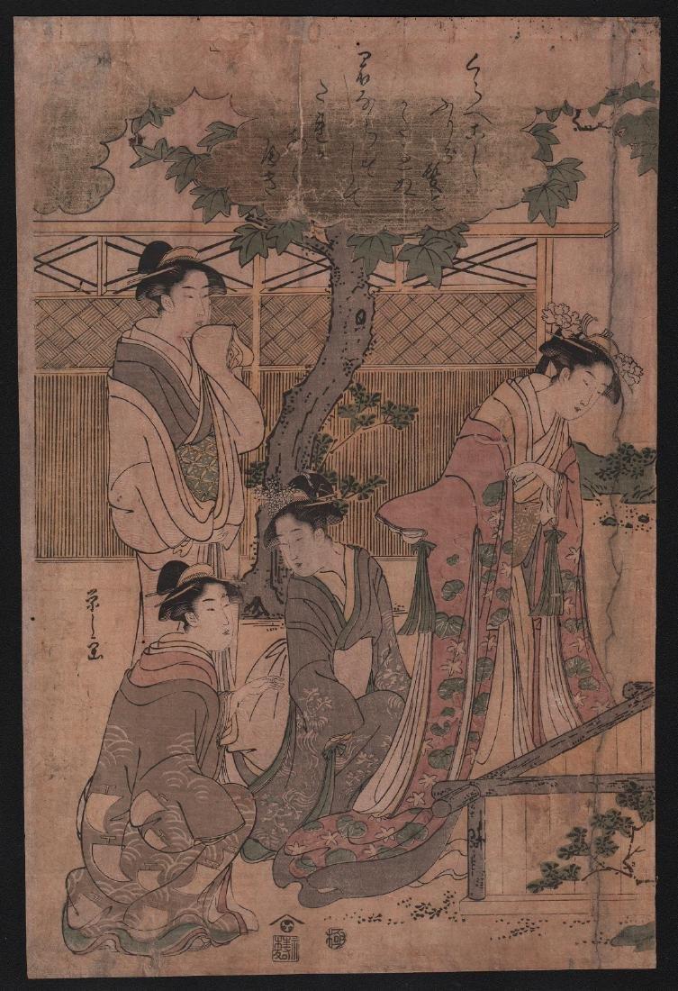 Chobunsai Eishi Woodblock Courtesans