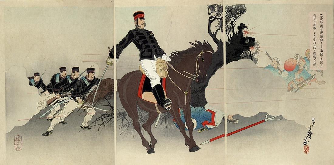 Toshihide, Migita Woodblock Picture Sino-Japanese War