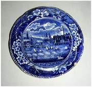 American Historical Staffordshire Cup Plate