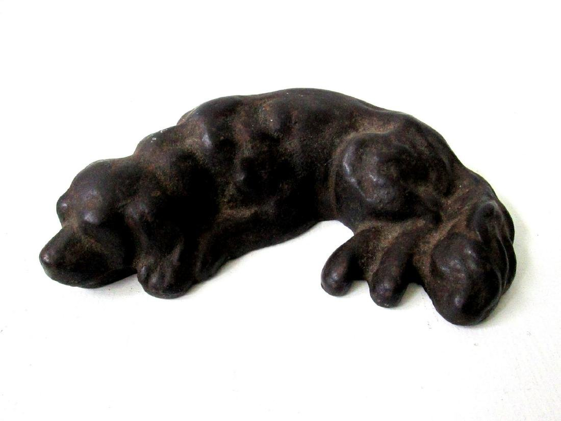 Rare Sleeping Dog Doorstop