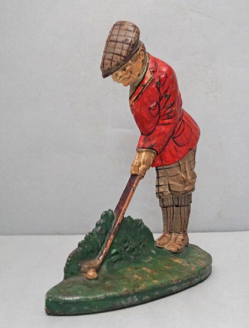 Putting Golfer Cast Iron Doorstop - 2