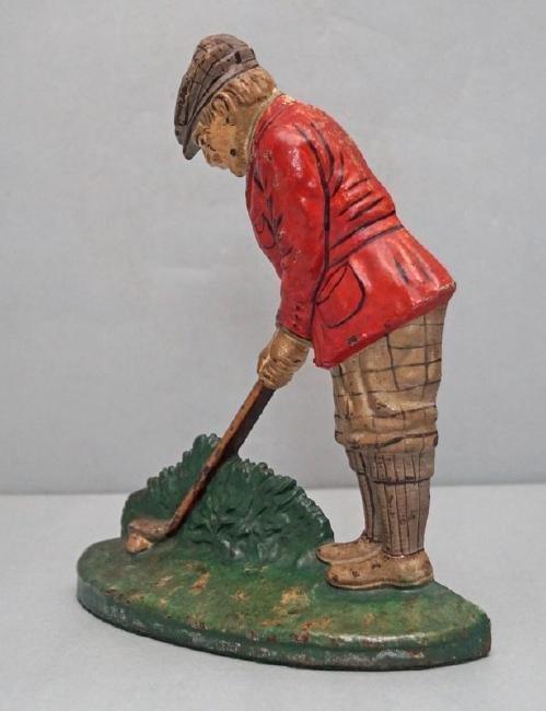 Putting Golfer Cast Iron Doorstop - 3