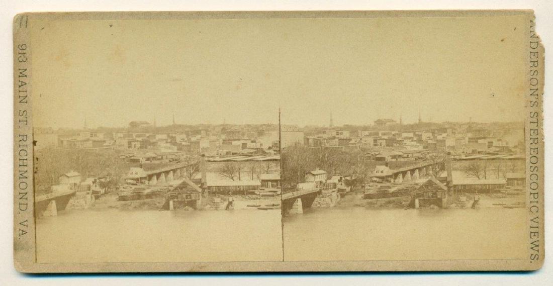 1870 Richmond Virginia Birds Eye View James River - 2