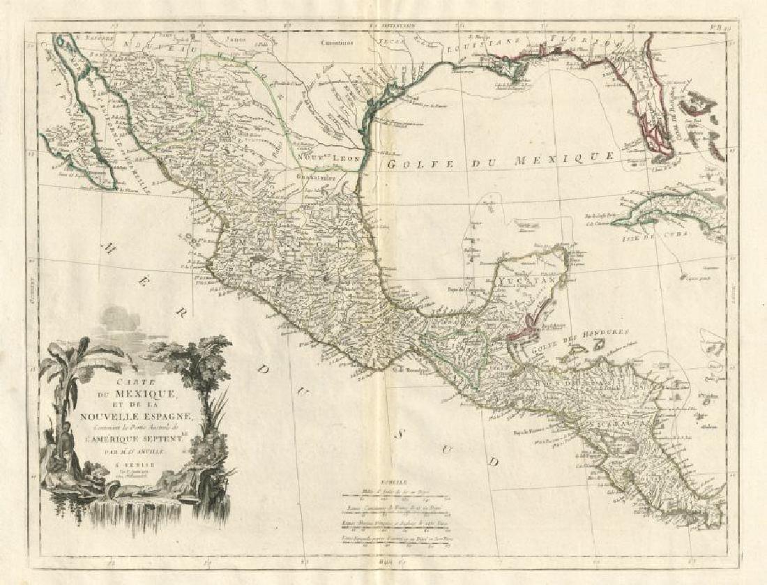 """""""Carte du Mexique et de la Nouvelle Espagne"""" Mexico."""