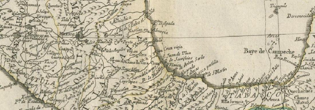 """""""Carte du Mexique et de la Nouvelle Espagne"""" Mexico. - 2"""
