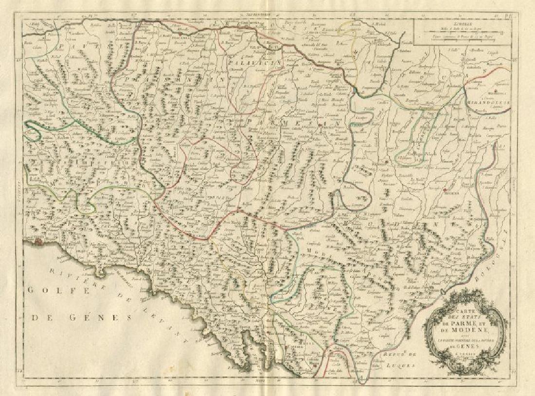 """""""Etats de Parme, et de Modène, avec Gènes"""". Parma"""