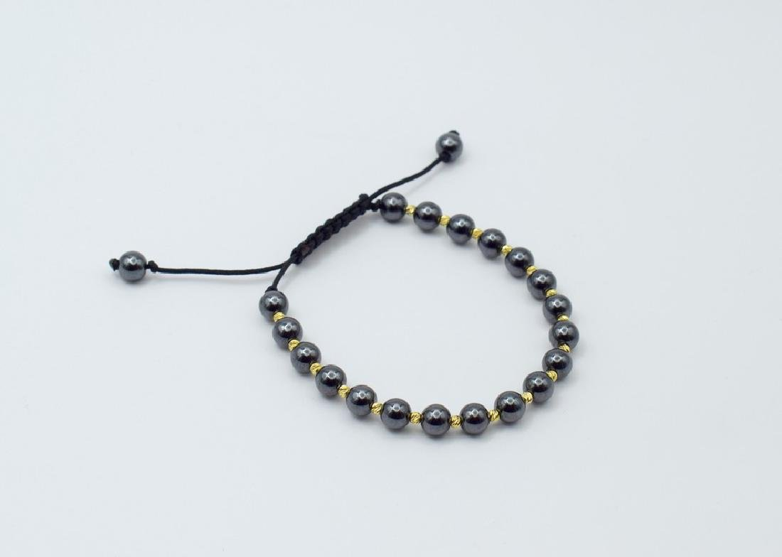 14 carat yellow gold pandora style bracelet with - 2