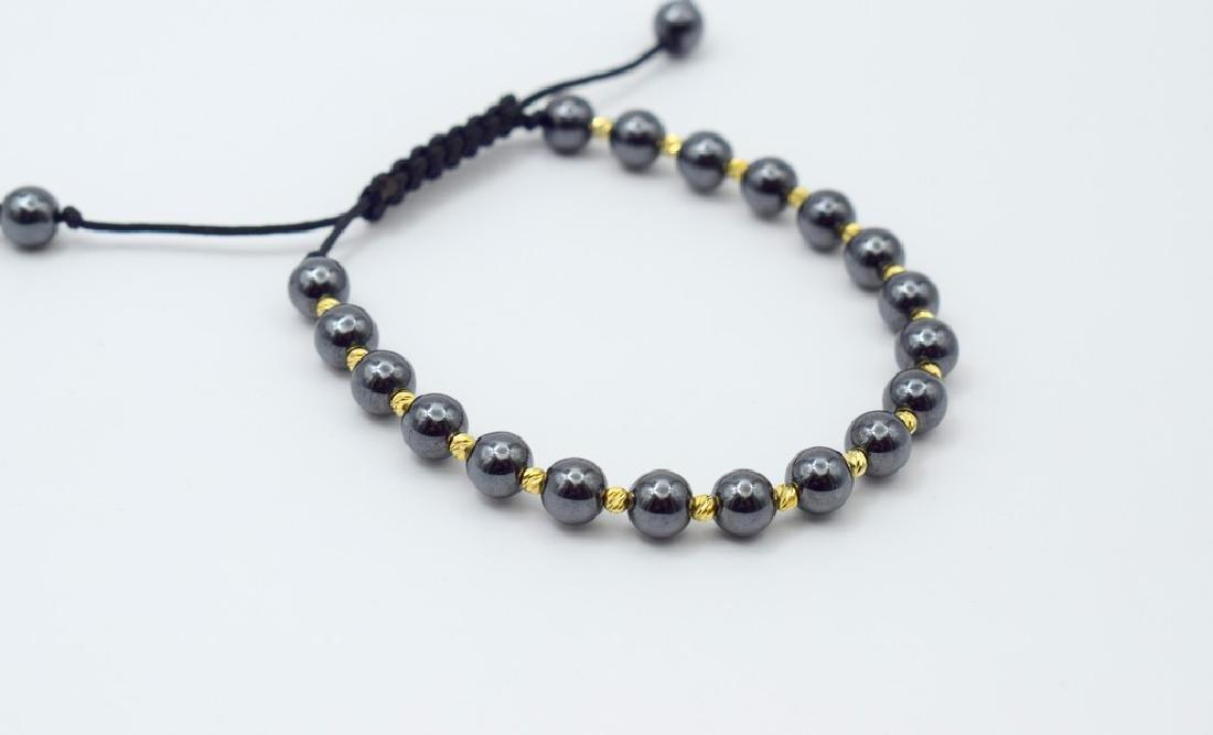 14 carat yellow gold pandora style bracelet with - 3