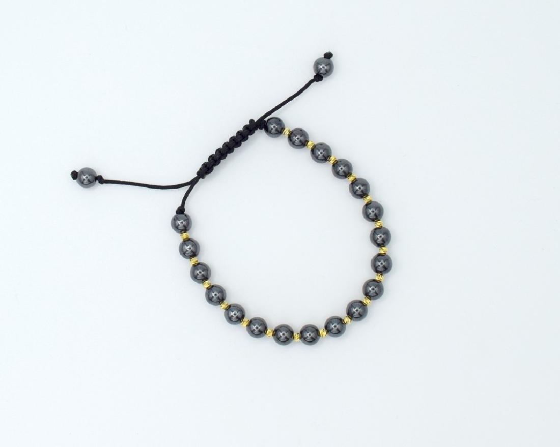14 carat yellow gold pandora style bracelet with - 4