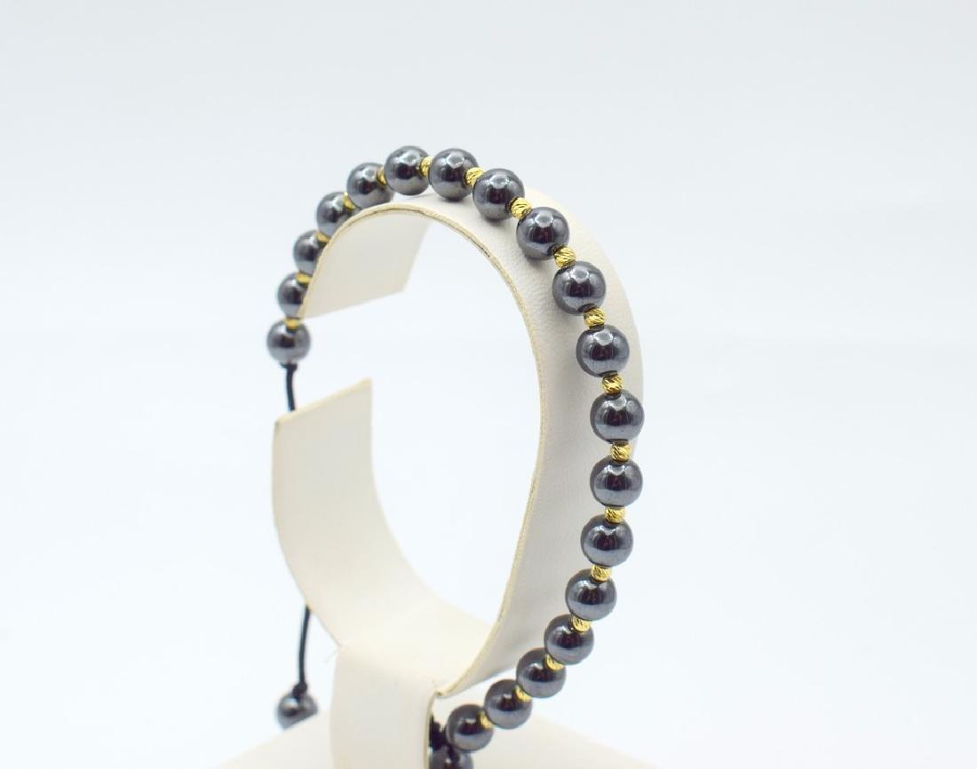 14 carat yellow gold pandora style bracelet with - 6