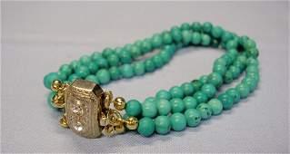 3-rows Turquoise bracelet