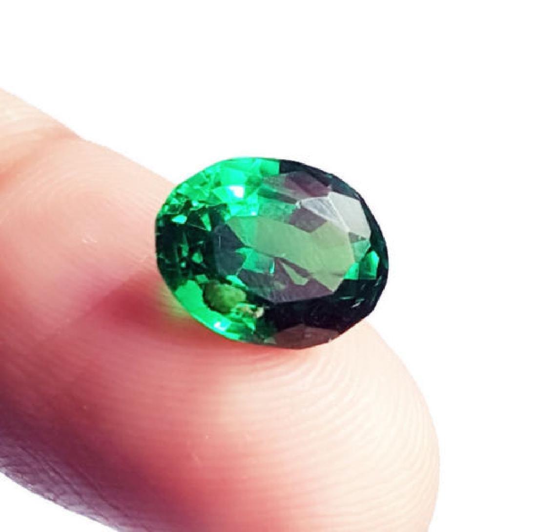 4.48 Ct Untreated Green Garnet Demantoid GGL Certified