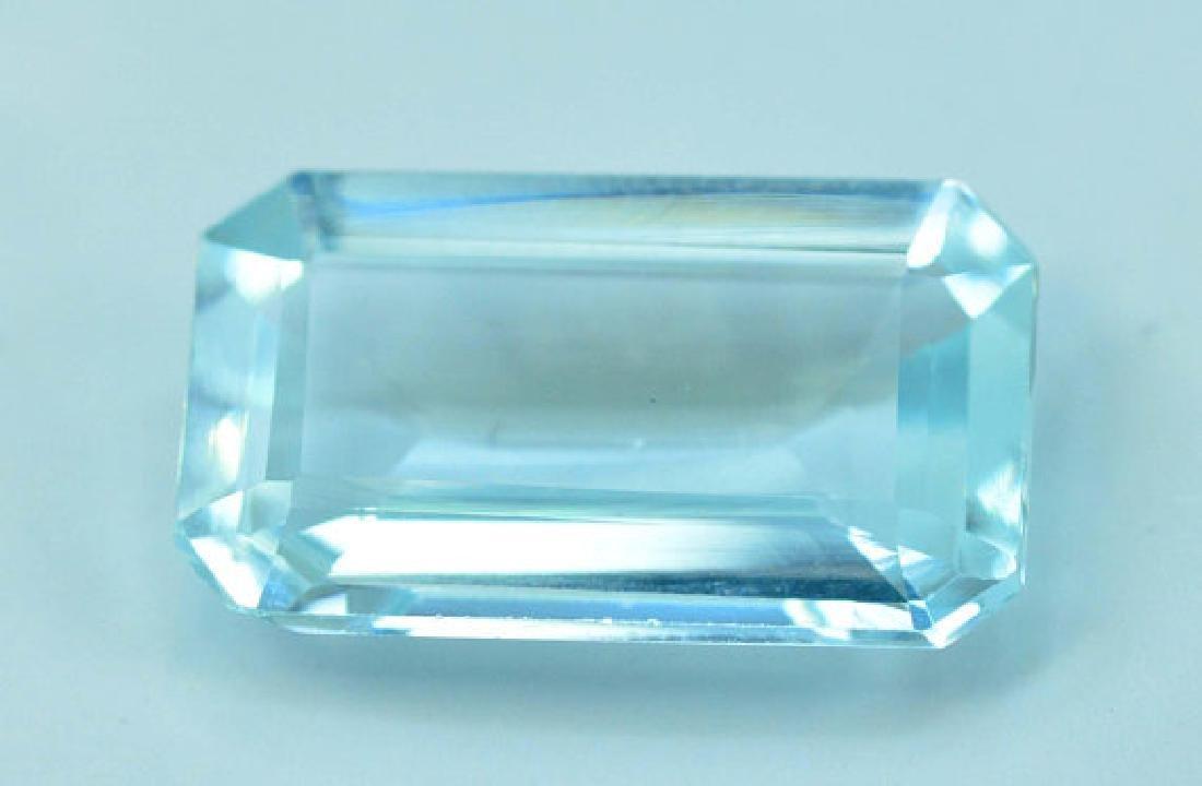 5.05 cts Untreated Aquamarine Gemstone ~ 15 x 9 x 4mm - 2
