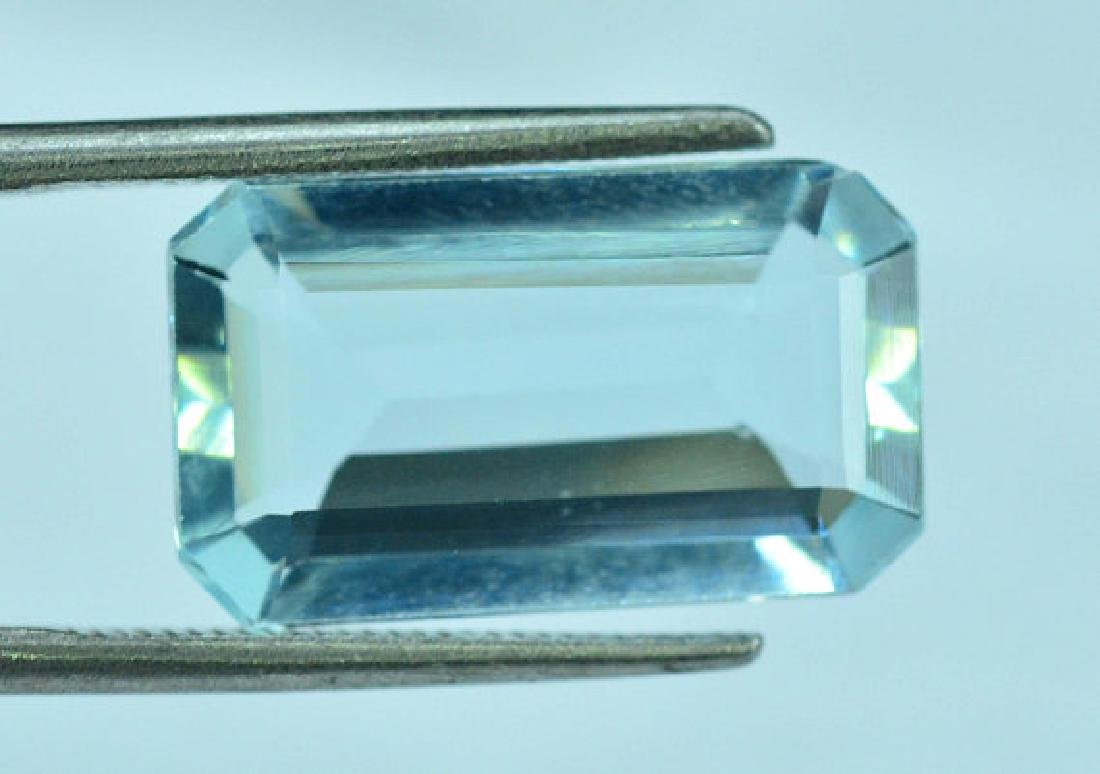 5.05 cts Untreated Aquamarine Gemstone ~ 15 x 9 x 4mm - 3