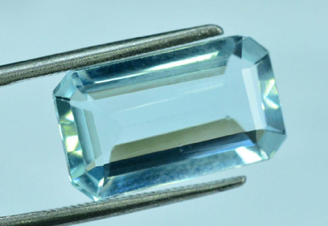 5.05 cts Untreated Aquamarine Gemstone ~ 15 x 9 x 4mm - 4