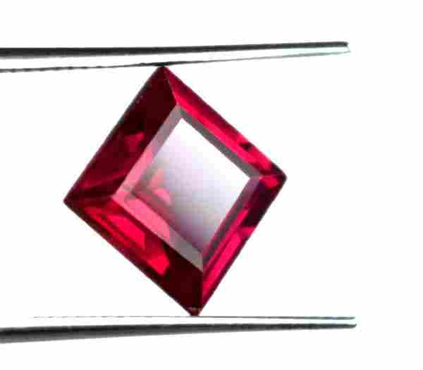 3.45 Ct Natural Princess Red Ruby IGL Certified