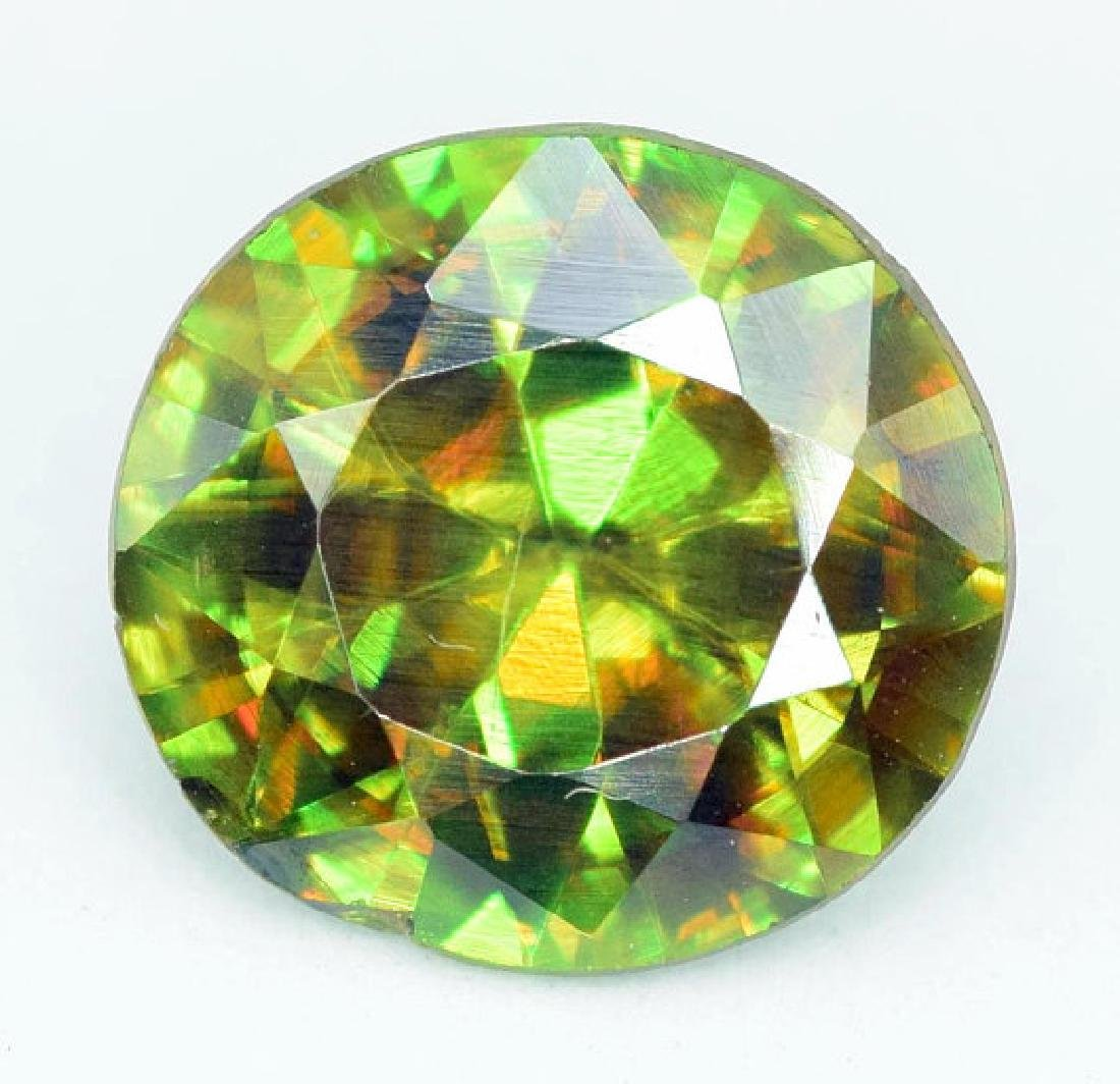 1.95 carats AAA Color Full Fire Natural Chrome Sphene - 2